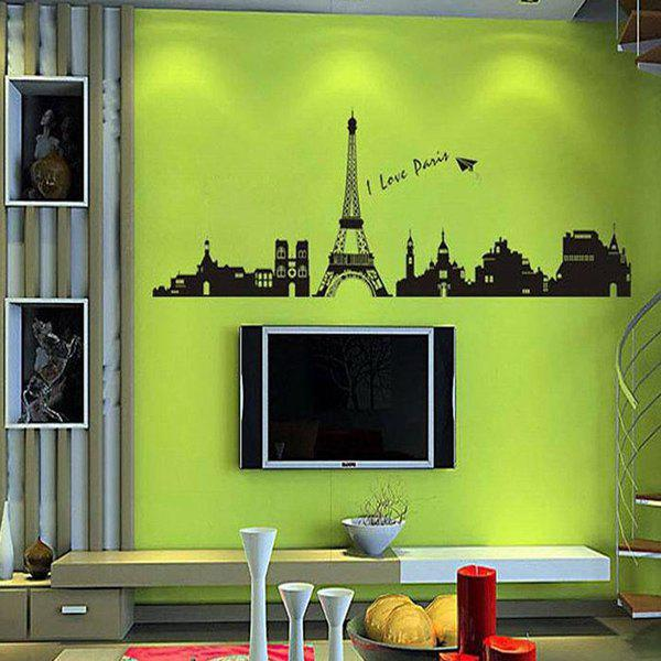 DIY Home Decoration A Set of PVC Eiffel Tower Decorative Wall Stickers