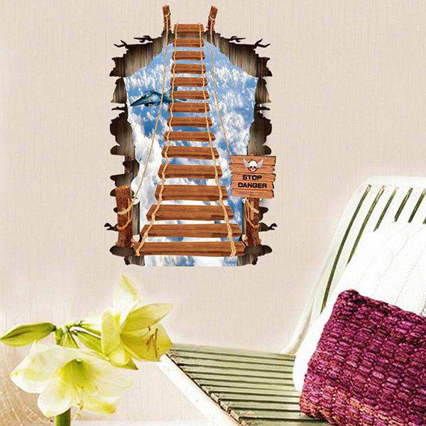 DIY 3D Home Decoration A Set of PVC Stairway Pattern Decorative Wall Stickers - COLORMIX