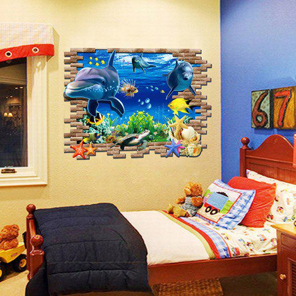 DIY 3D Home Decoration A Set of PVC Underwater World Pattern Decorative Wall Stickers - AS THE PICTURE