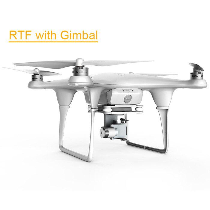 Refurbished FUAV Seraphi 2.4G 6CH RC RTF with 2 Axis Gimbal Long Flight Time / Control Distance Quadcopter - WHITE US PLUG