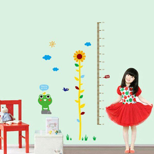 Sweet Chic Home Decoration PVC Sunflower Pattern Height Stickers