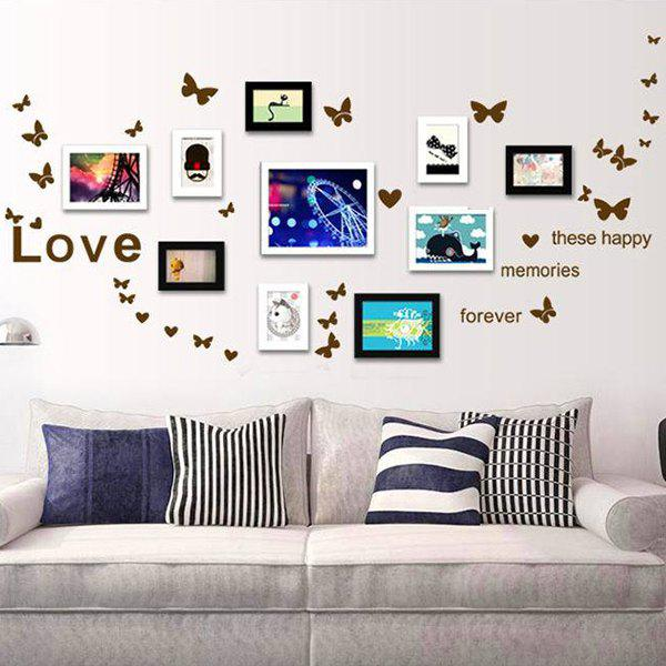 Simple Chic Home Decoration PVC Butterfly Pattern Decorative Wall Stickers - COLORMIX