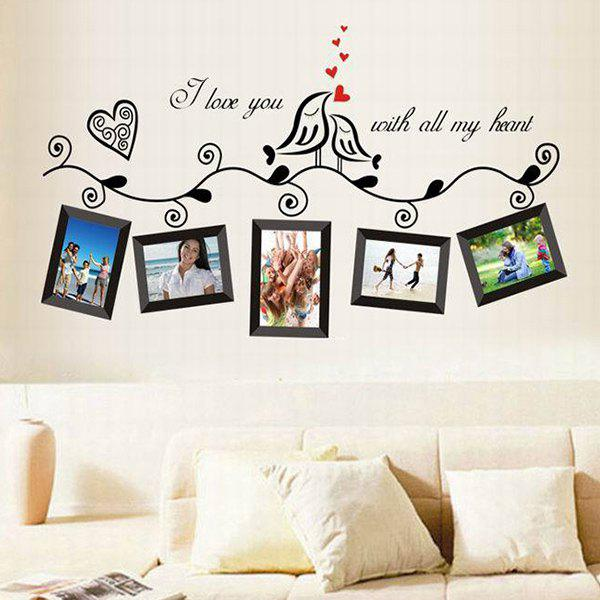 Colored Picture Frame Pattern Home Decoration PVC Decorative Wall Stickers - RANDOM