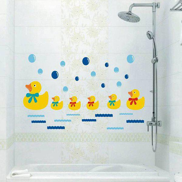 Colored Cartoon Duck Pattern Home Decoration PVC Decorative Wall Stickers - COLORMIX