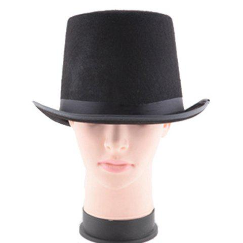 Stylish Turnup Brim Solid Color Men's Magic Felt Top Costume Hat