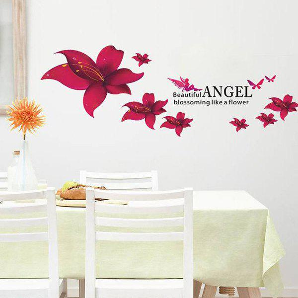 Sweet Colored Floral Pattern Home Decoration PVC Decorative Wall Stickers