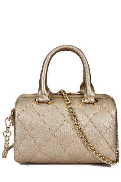 Sweet Chains and Rivets Design Women's Crossbody Bag - GOLDEN