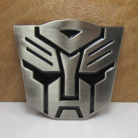 Stylish Transformers Mask Shape Men's Metal Belt Buckle - SILVER