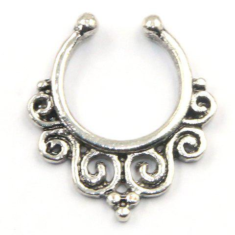 Stylish Solid Color Fake Septum Nose Ring For Women