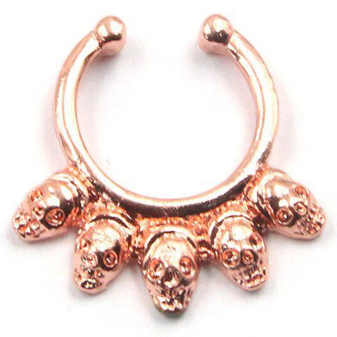 Characteristic Skull Shape Fake Septum Nose Ring For Women - ROSE GOLD