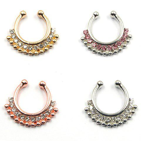 ONE PIECE Chic Rhinestoned Fake Septum Nose Ring For Women