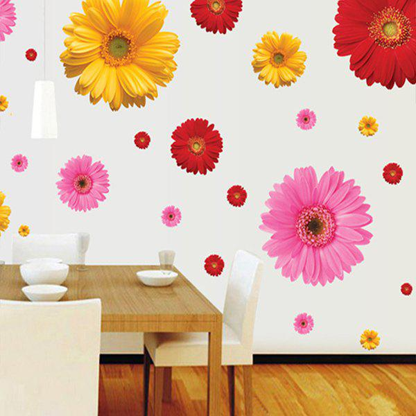Sweet Daisy Pattern Home Decoration PVC Decorative Wall Stickers - RANDOM COLOR