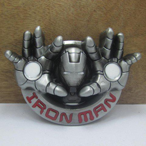 Stylish Iron Man Head and Hand Shape Embellished Men's Belt Buckle - COLORMIX