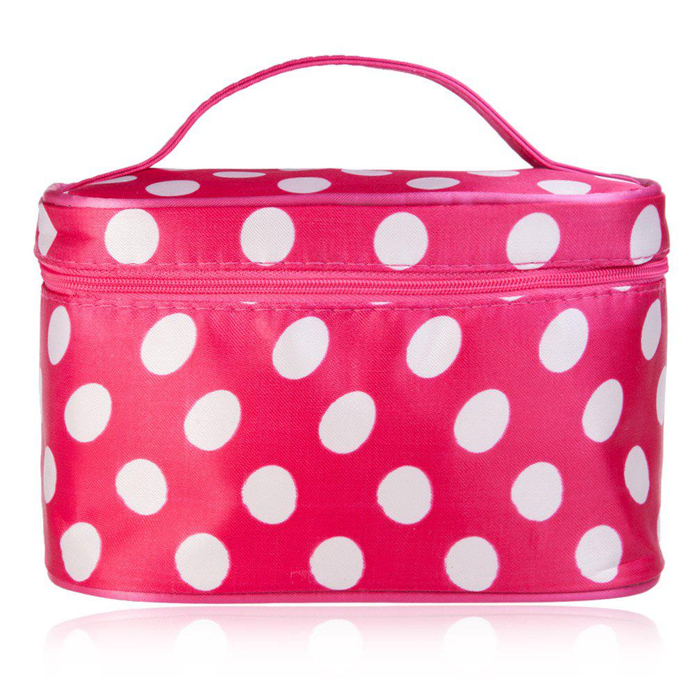 Fashion Polka Dot Print Storage Wash Receive Bag - RED/WHITE