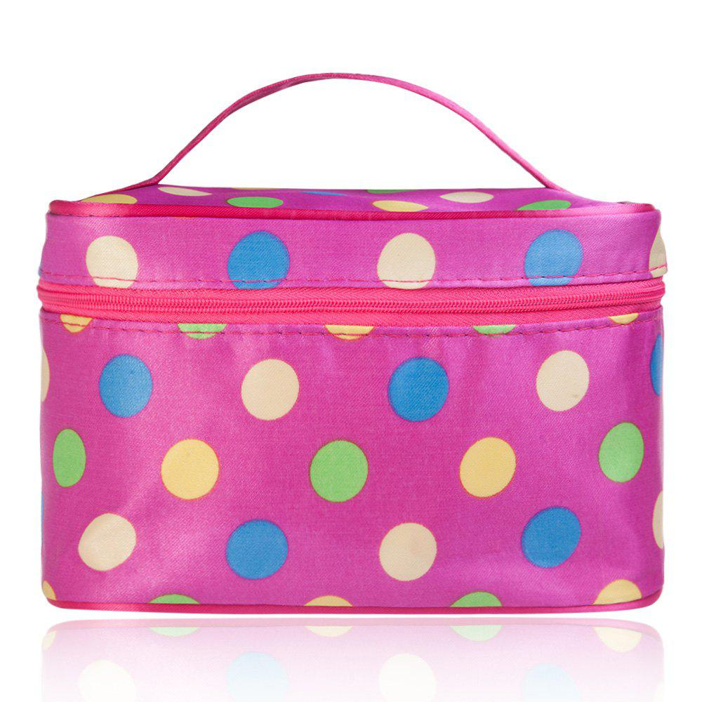 Guapabien Fashion Polka Dot Print Storage Wash Receive Bag - AS THE PICTURE