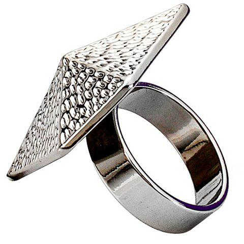Characteristic Solid Color Geometric Ring For Women