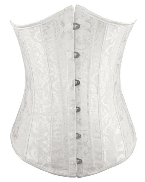 Sexy Strapless Jacquard Lace-Up Women's Corset