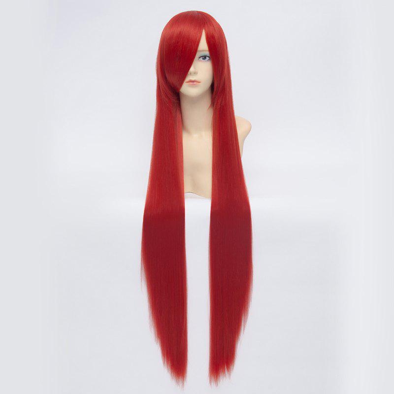 Anime Shana Stunning Extra Long Charming Silky Straight Inclined Bang Universal Red Cosplay Wig - RED