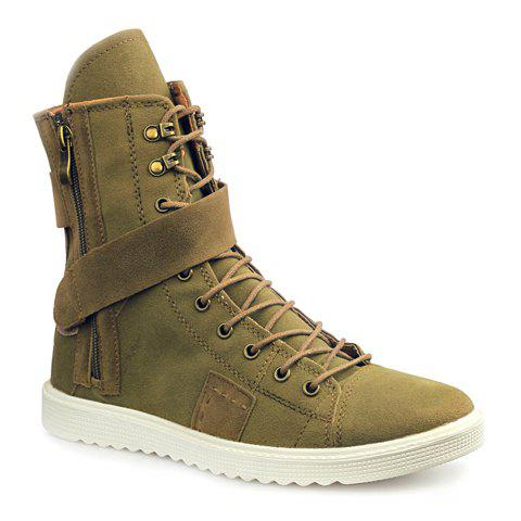 Trendy  and Suede Design Boots For Men - BROWN 41