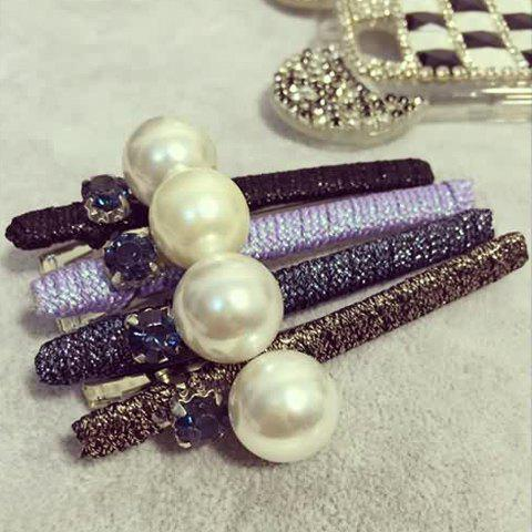 ONE PIECE Trendy Round Faux Pearl Hairpin For Women - RANDOM COLOR
