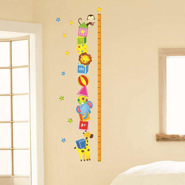 Simple Cartoon Home Decoration Height Stickers - COLORMIX