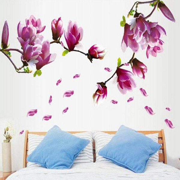 Elegant Petal Pattern Home Decoration Decorative Wall Stickers - COLORMIX