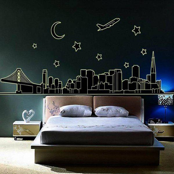 DIY Creative Crescent and Star Pattern Home Decoration Decorative Wall Stickers - COLORMIX