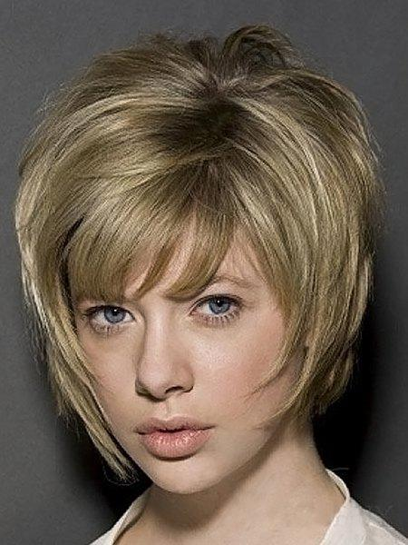 Fluffy Straight Side Bang Short Stylish Heat Resistant Synthetic Two-Tone Mixed Women's Wig - COLORMIX