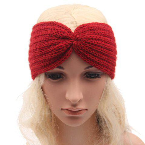 Chic Solid Color Stripy Women's Knitted Headband - COLOR ASSORTED