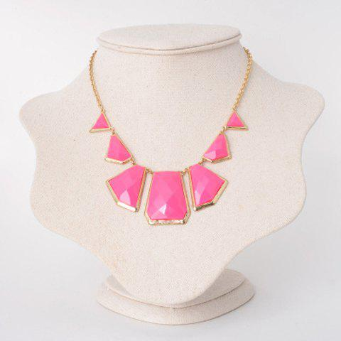 Delicate Irregular Geometric Necklace For Women - PINK