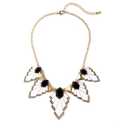 Vintage Rhinestone Maple Leaf Women's Pendant Necklace - GOLDEN