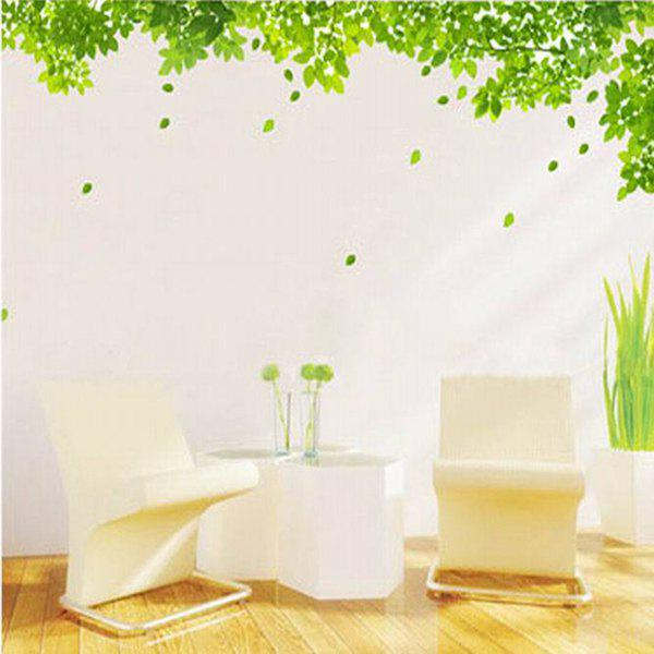 New Green Leaf Pattern Home Decoration Decorative Wall Stickers - GREEN