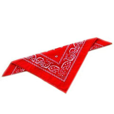Stylish Paisley Print Men's Square Scarf - RED