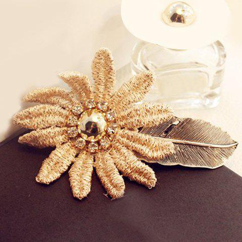 Gorgeous Lace Flower Leaf Hairpin For Women - COLORMIX