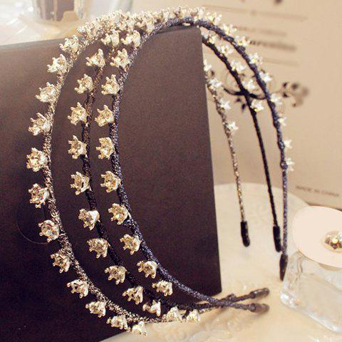ONE PIECE Chic Rhinestone Crown Hairband For Women - RANDOM COLOR