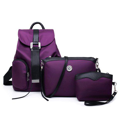 Simple Style Nylon and Stitching Design Satchel For Women