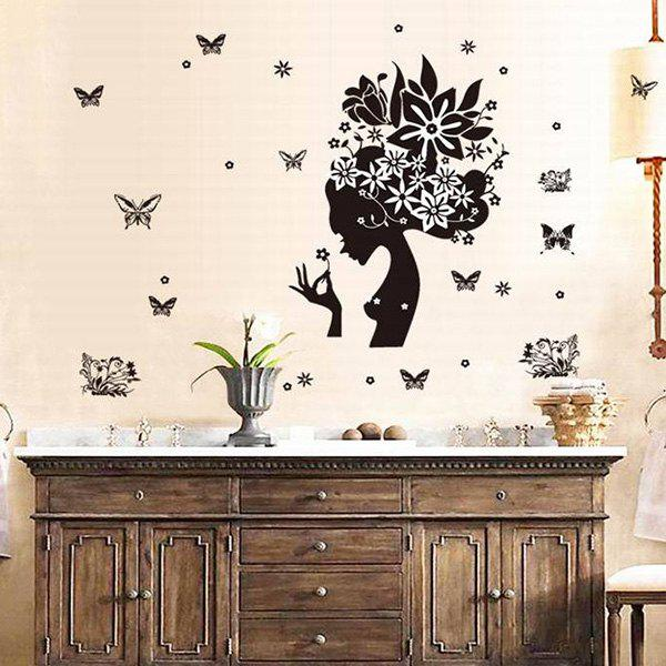 Creative DIY Butterfly Pattern Home Decoration Decorative Wall Stickers - BLACK