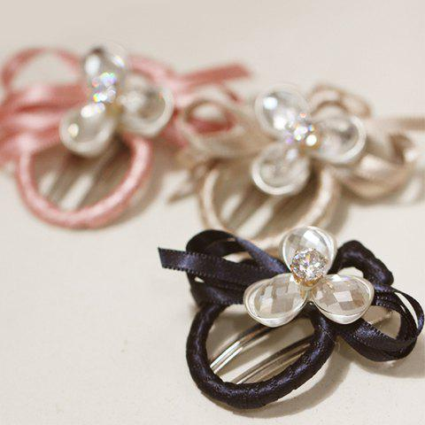 ONE PIECE Stylish Rhinestone Flower Bow Hairpin For Women - RANDOM COLOR