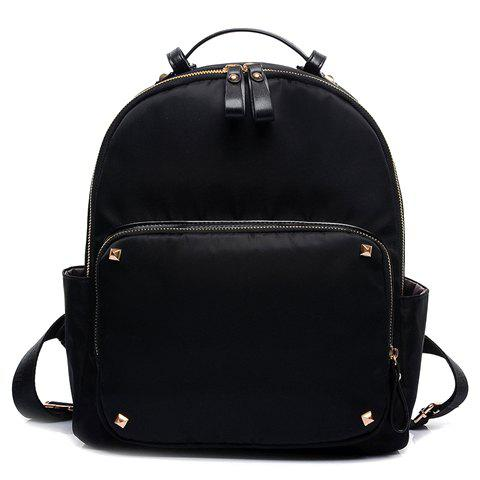 Stylish Rivet and Solid Color Design Women's Satchel