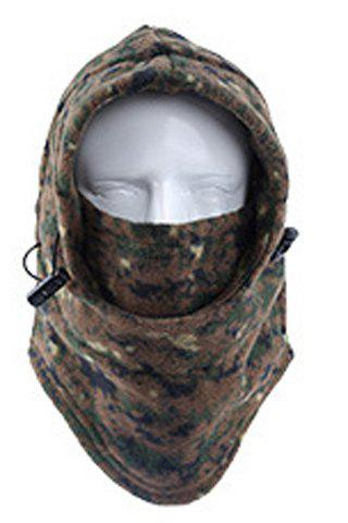 Stylish Drawstring Various Pattern Outdoor Men's Fleeces Protective Headgear - RANDOM COLOR PATTERN