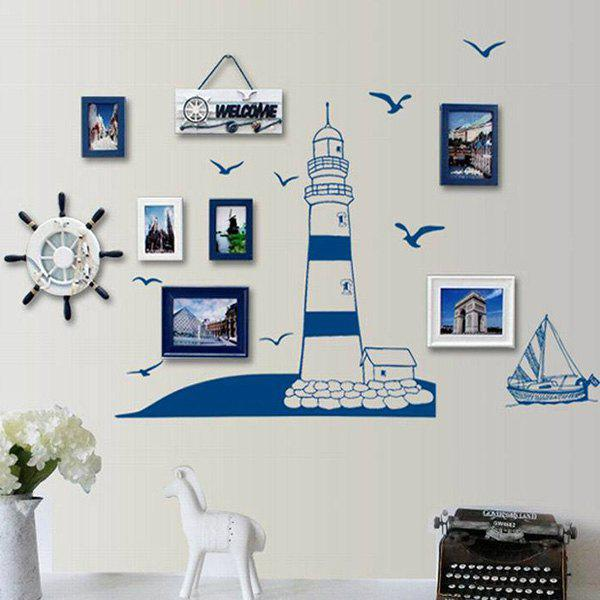 Creative DIY Lighthouse Pattern Home Decoration Decorative Wall Stickers - BLUE