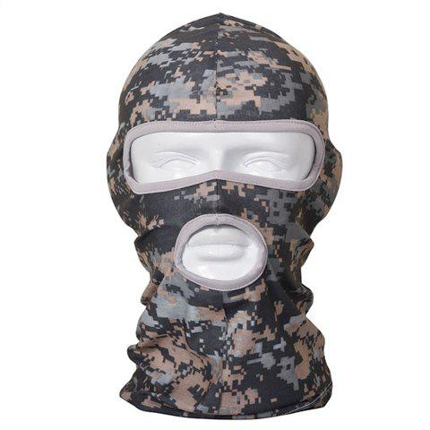 Stylish Camouflage Pattern Outdoor Tactical Men's Protective Headgear - GRAY