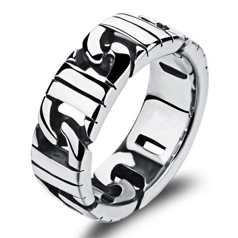 Rock Style Stainless Steel Ring - SILVER ONE-SIZE