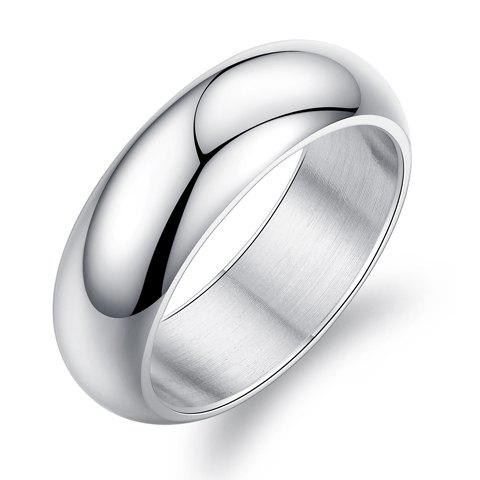 Round Alloy Ring - WHITE ONE-SIZE