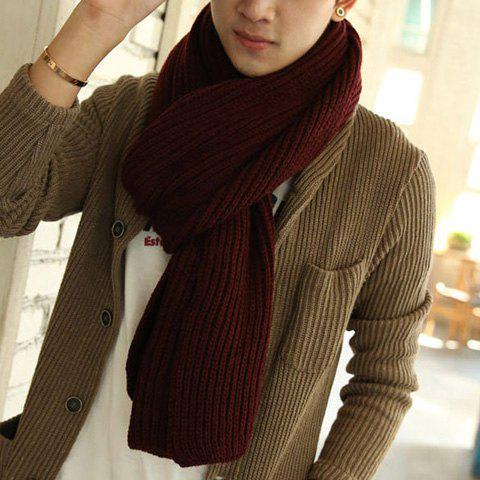 Stylish Solid Color Knitted Scarf For Men and Women