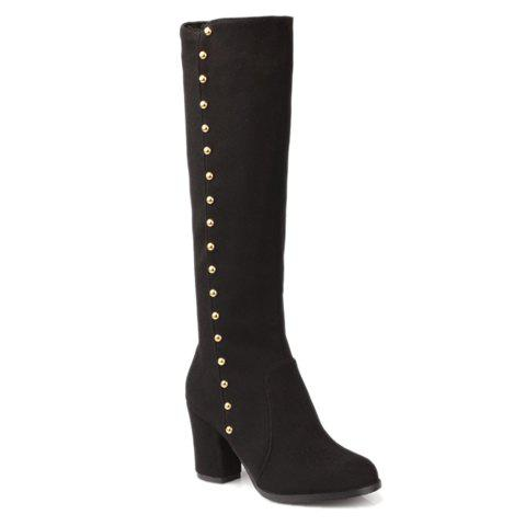 Fashionable Zipper and Studs Design Women's Boots