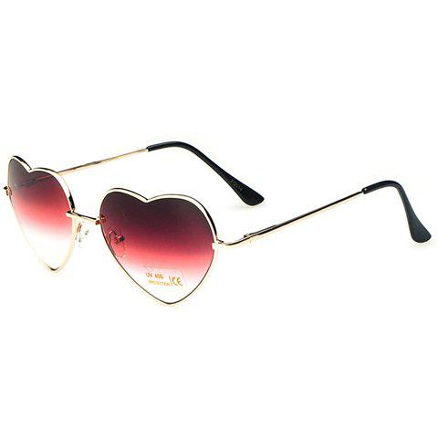 Chic Heart Shape Alloy Frame Ombre Women's Sunglasses - COLOR ASSORTED