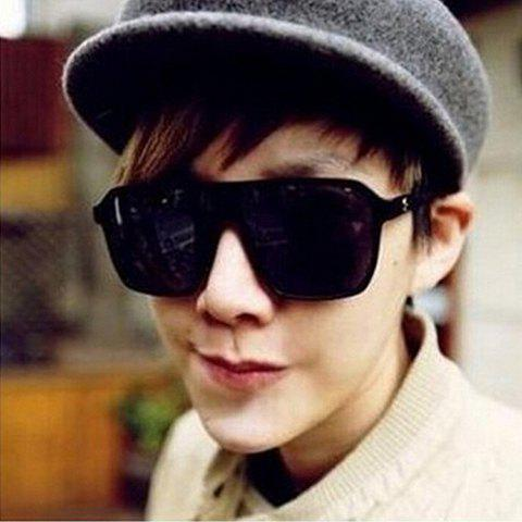 Stylish Big Quadrate Frame Men's Sunglasses - RANDOM COLOR PATTERN