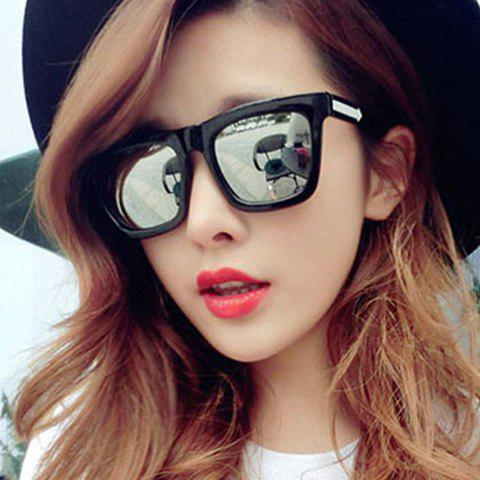 Chic Arrow Shape Embellished Retro Quadrate Frame Women's Sunglasses - COLOR ASSORTED