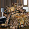 Elegant 3D Oil Painting Leopard Pattern 4 Pcs Duvet Cover Sets ( Without Comforter ) - LEOPARD FULL